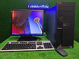 """Комплект Lenovo M55, 2 ядра, 4 ГБ ОЗУ, 500 Гб HDD + LED монитор 19"""" Fujitsu , Полностью настроен!, фото 3"""