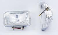 Прямоугольные дополнительные фары в прочном металлическом корпусе и усиленное стекло