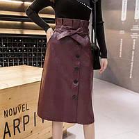 Стильная юбка из экокожи, фото 1