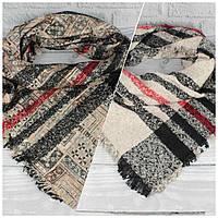 Необычный,  шикарный двусторонний платок Ashma 7880-1, 100% шерсть, фото 1
