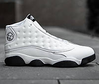 Белые баскетбольные кроссовки мужские на черной подошве