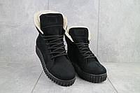 Ботинки женские CrosSav 151 черные-нубук (натуральная кожа, зима)