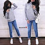 Вязаный теплый женский свитер с шерстью и высоким воротником vN5405, фото 2
