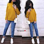 Вязаный теплый женский свитер с шерстью и высоким воротником vN5405, фото 3