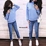 Вязаный теплый женский свитер с шерстью и высоким воротником vN5405, фото 5