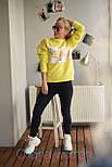 Женский теплый свитшот с надписью vN5409, фото 4