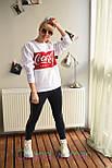 Женский теплый свитшот с надписью vN5409, фото 5