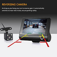DVR 3 Lens 3 камеры HDR LCD 4.0 Full Hd видеорегистратор