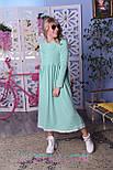 Теплое платье на флисе с завышенной талией и расклешенной юбкой vN5432, фото 3
