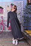 Теплое платье на флисе с завышенной талией и расклешенной юбкой vN5432, фото 4