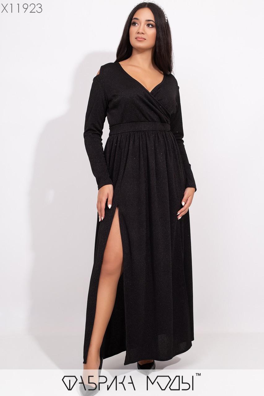 Довга сукня у великих розмірах з верхом на запах і напиленням vN5469