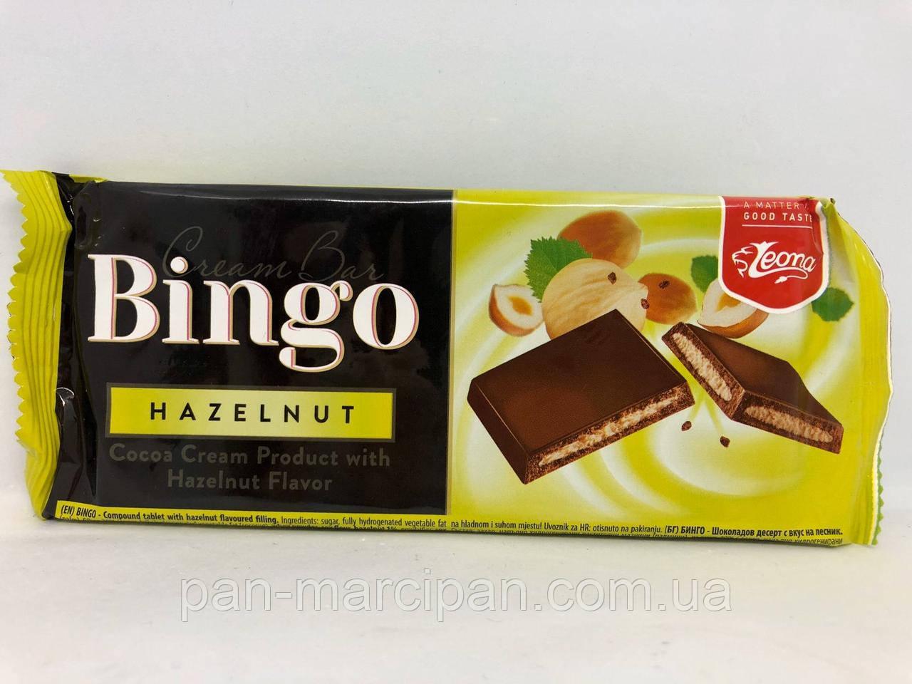 Шоколад з горіховою начинкою Bingo Cream Bar 90 г