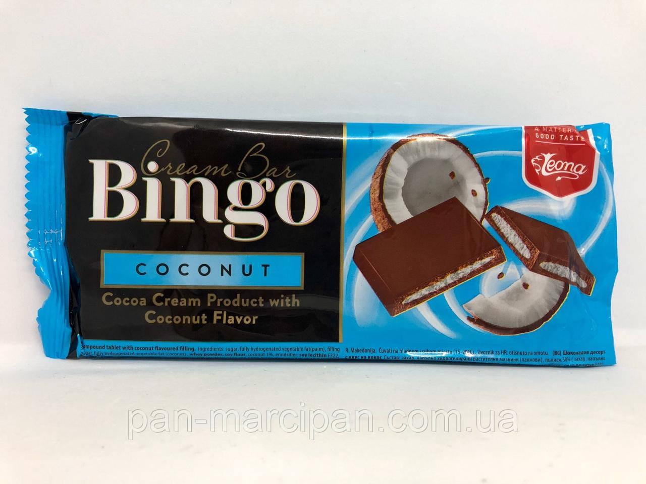 Шоколад з кокосовою начинкою Bingo Cream Bar 90 г