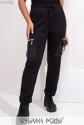 Женские штаны теплые из трехнитки в больших размерах vN5477