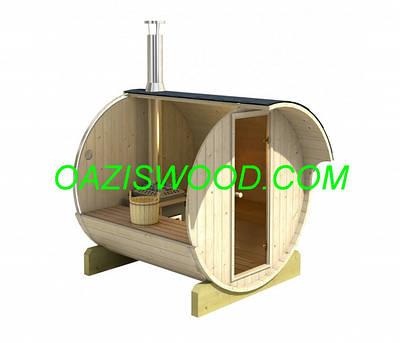 Бочки-бани с дровяной печью, бочки-сауны с электрокаменкой.