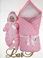 Зимний комплект одежды для новорожденных девочек, Алефтина розовый
