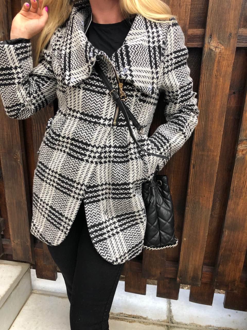 Пальто женское стильное кашемировое HUZEN