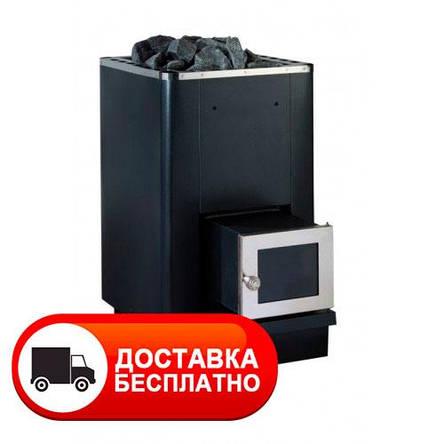 """Каменка для бани """"Костер РК-16SL"""" с выносом стеклянная дверца, фото 2"""