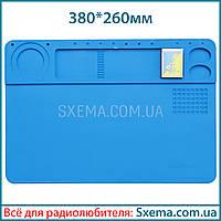 Коврик для пайки силиконовый термоковрик 380x260мм мат для и ремонта электроники