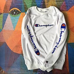 Champion - свитшот белый  • мужской и женский • Бирки и Живые фотки