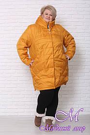 Женская куртка большого размера осень весна (р. 60-82) арт. Куртка осень № 4