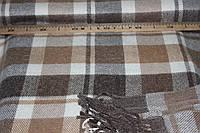 Плед вовняний (50%вовна, 50%ПЕ), розмір 140*200 см, горіхова клітинка . № 2003