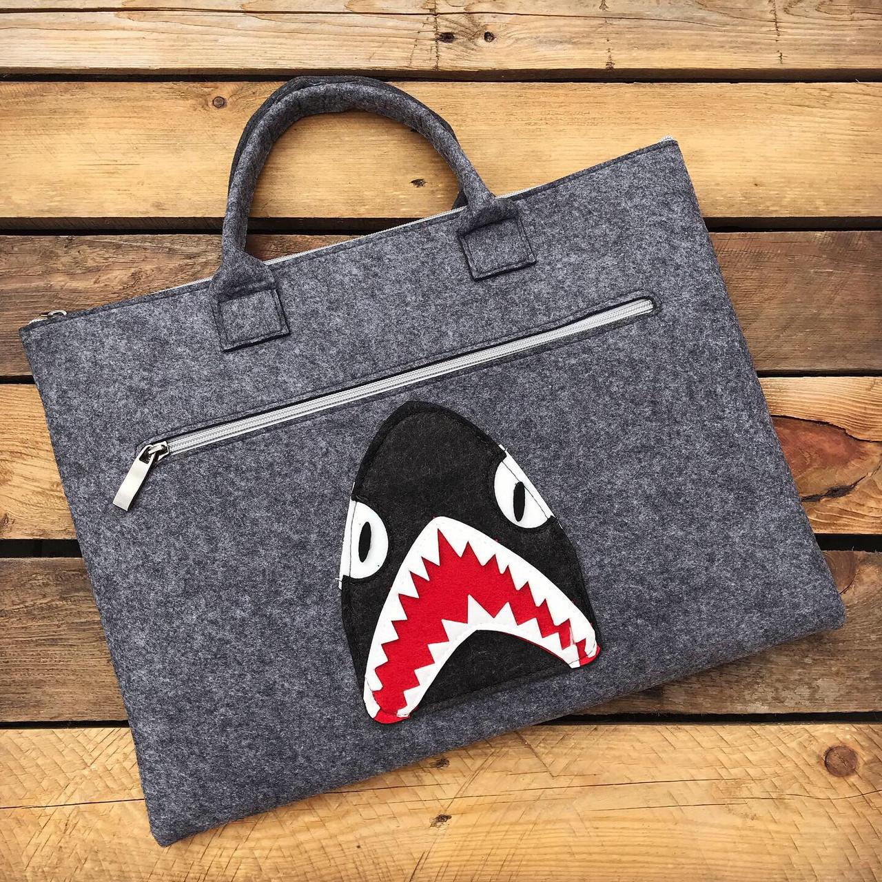 "Сумка для ноутбука 13.3"" Акула (Войлок)"