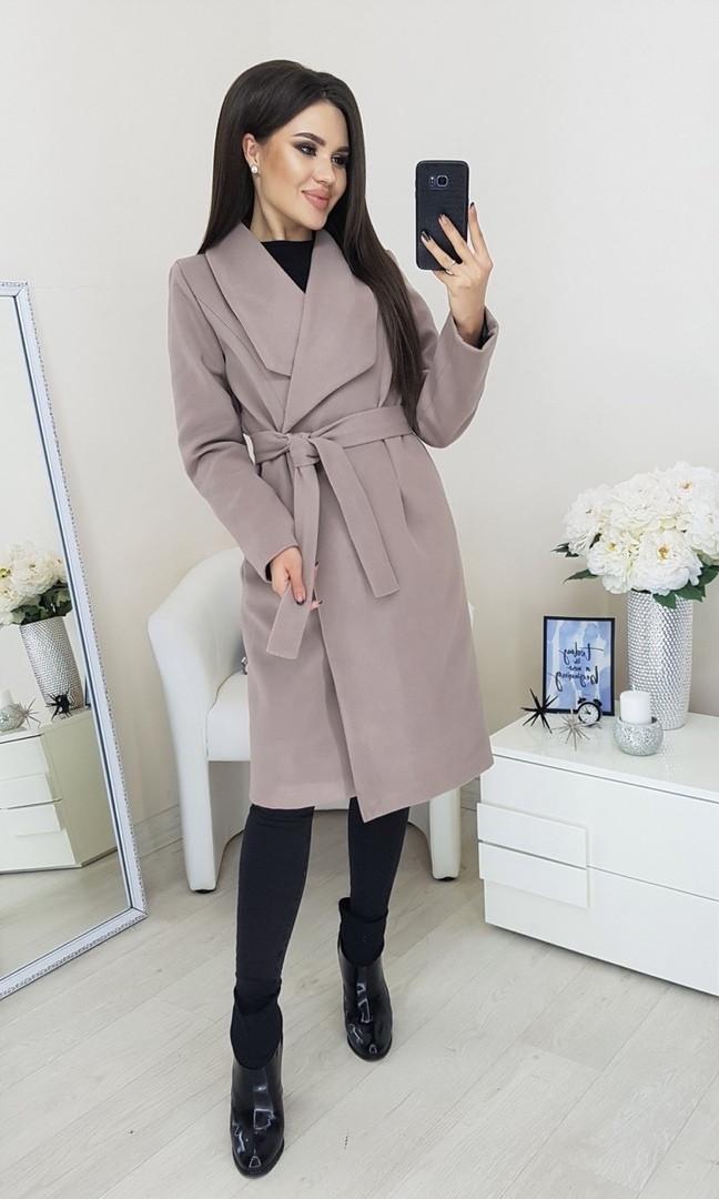 Пальто женское Батал Бежевый