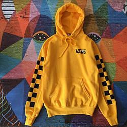 Толстовка жёлтая Vans | Худи ванс | кенгурушка венс