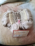 Шиньон-накладка короткий на гребешках серебристо-седой 988-60, фото 4