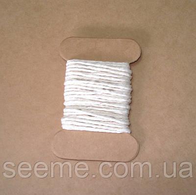 Шнур хлопковый, 5 метров, цвет молочный