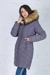 Зимняя удлиненная куртка Кетти капучино