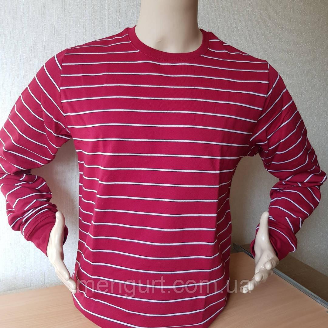 Фуфайка (футболка с длинным рукавом) мужская на байке ХЛОПОК  УЗБЕКИСТАН