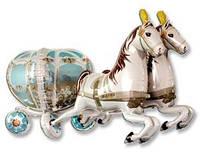 Шар (190 см) Ходячая Фигура, Карета Свадебная с Лошадьми, Grabo (Италия)