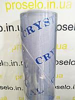 Пленка ПВХ. (Гибкое стекло).Плотность 400мкм. Рулон 1.37м*30 м. Прозрачная. Crystal