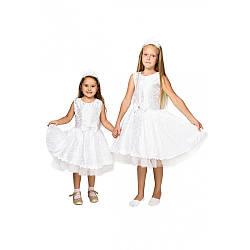 Карнавальный костюм СНЕЖИНКА белая на 4,5,6,7,8,9 лет, детский новогодний костюм Снежинка.