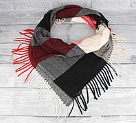 Мягкий кашемировый платок Cashmere 7980-3 в клетку, расцветки, фото 1