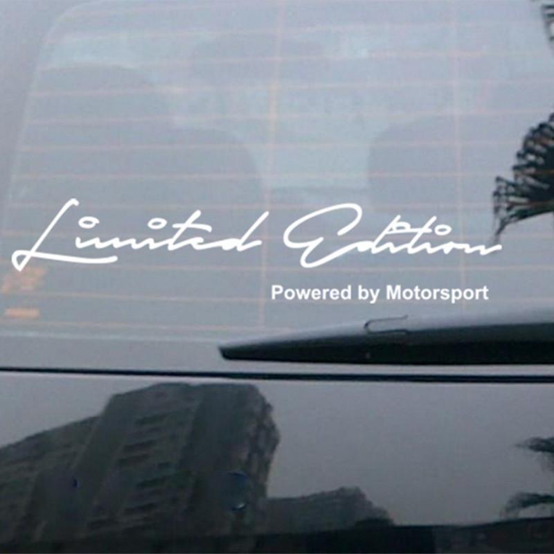 Наклейка Limited Edition Power by Motorsport - белая