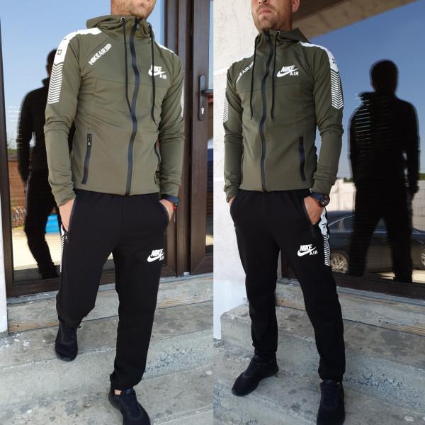 Мужской спортивный костюм Найс (хаки+черный)