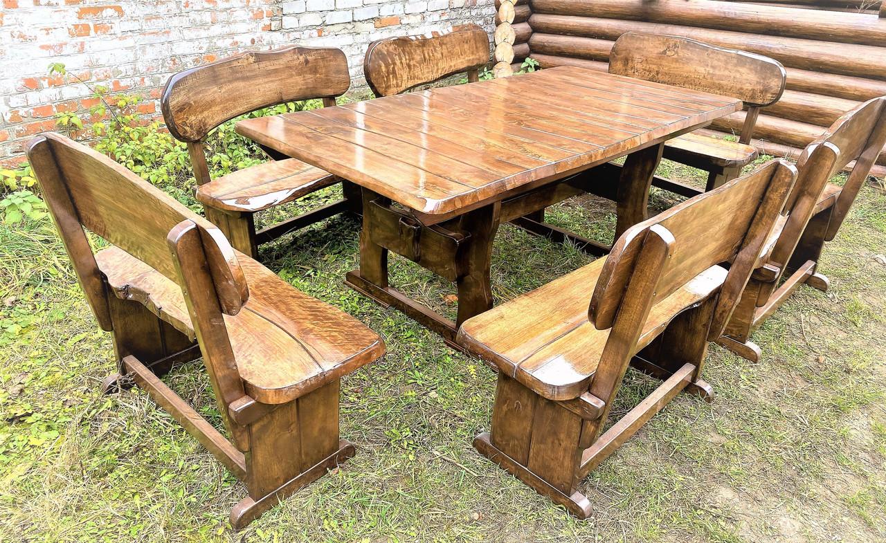Комплект садовой мебели:стол и лавки из дерева и металла: в Днепре ... | 785x1280