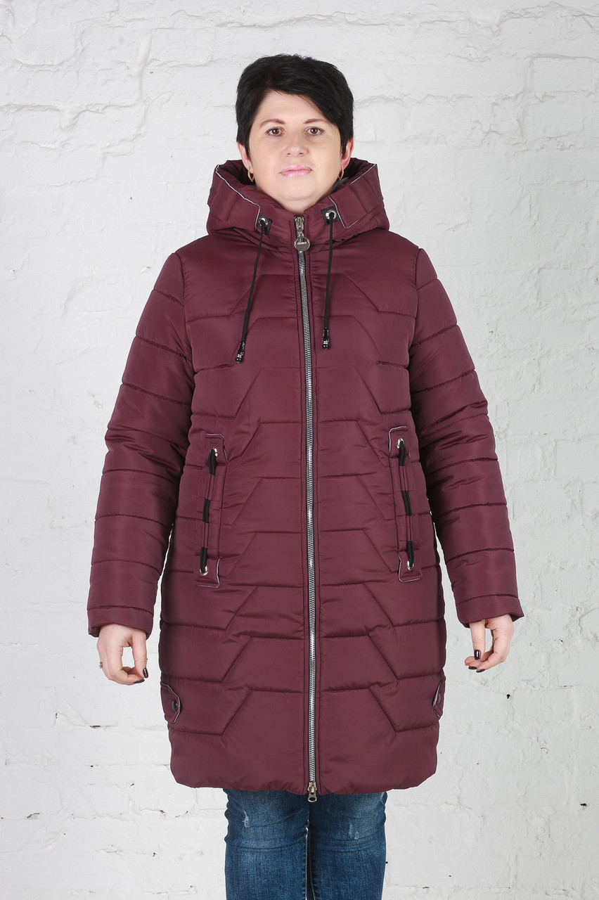 Женская зимняя куртка без меха Кайли бордо