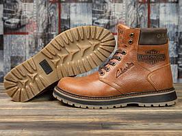 Зимние ботинки  на меху Clarks Extreme Comfort, рыжие (31071) размеры в наличии ► [  40 41 42 43 44 45  ]