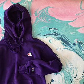 Кенгуру Champion • худи фиолетовый  • Топ качество • Бирки ориг, фото 2