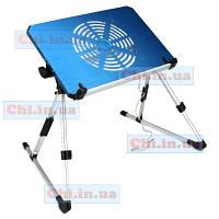 Раскладной столик трансформер ET-703 для ноутбука нетбука планшета с вентилятором компьютерный стол подставка