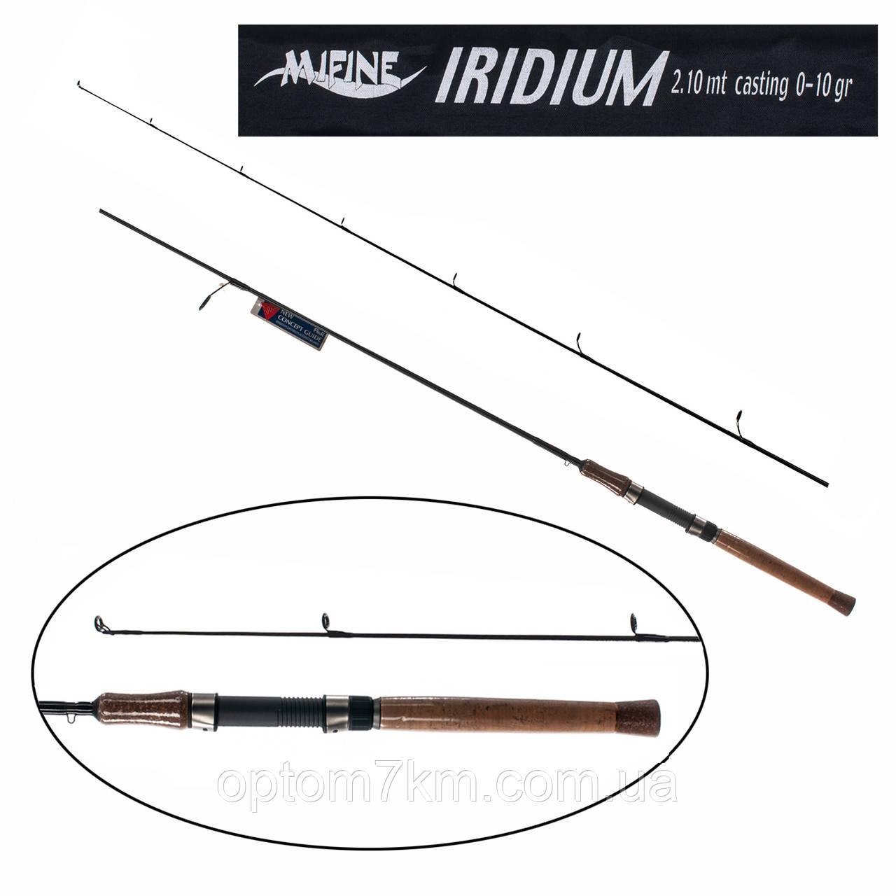 Спиннинг Mifine Iridium 2,1m, тест 0-10g