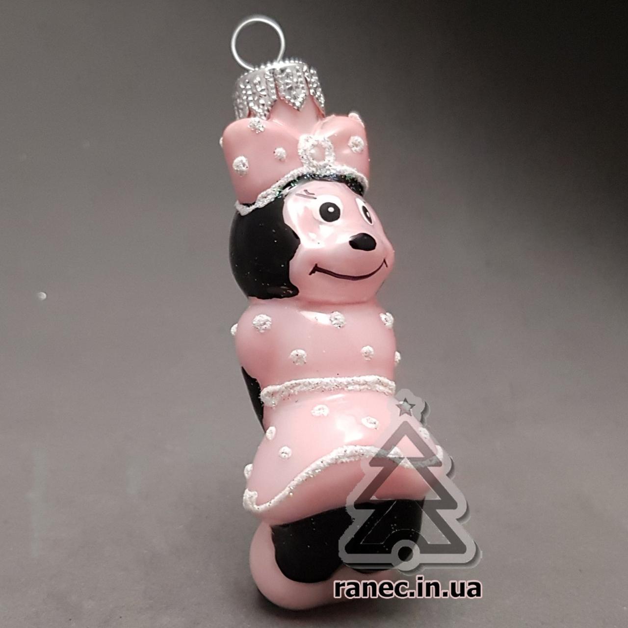 Елочная игрушка  МИННИ МАУС Стекло И-10