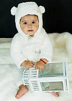 "Детский зимний комплект шапка ушанка с завязками и шарфом для девочки ""Айді"", ТМ Dembo house"