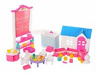 """Набор мебели для кукол """"Детский сад"""", пластиковый, Глория 9877"""