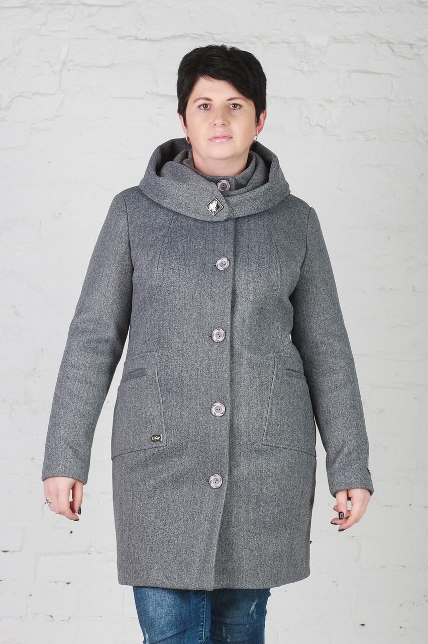 Женское утепленное пальто Мери серое