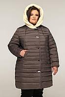 Жіночий зимовий пуховик великого розміру, фото 1